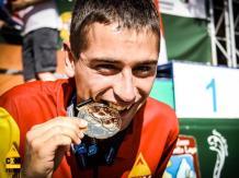 Daniel Osanz, dos oros y una plata Mundial Juvenil Skyrunning 2019. Foto FEDME.