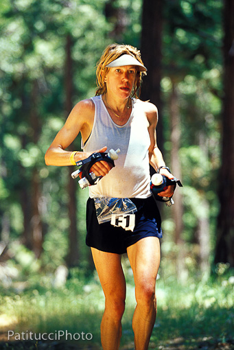 Ann Trason at mile 50 - Western States