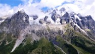 Panorama de Ref Bertone hacia las Grandes Jorasses 4208m