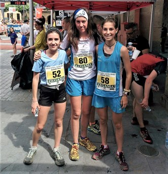 Zegama Aizkorri junior trail podio femenino