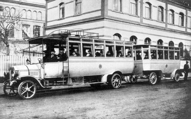 1913. Автобус  в Киеве.