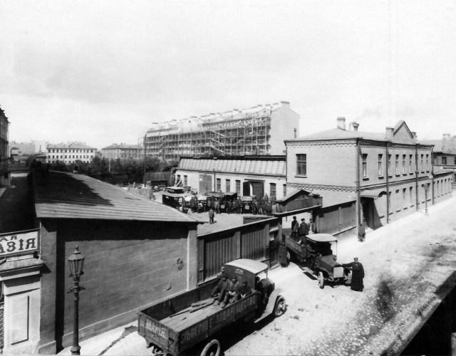 1911. SAG-Gaggenau C28. Гараж и автомобильные мастерские Северного товарищества промышленности и торговли. Санкт-Петербург.