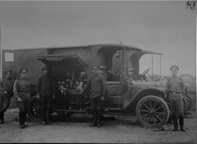 1916. Автомобиль-радиостанция. Северный фронт.