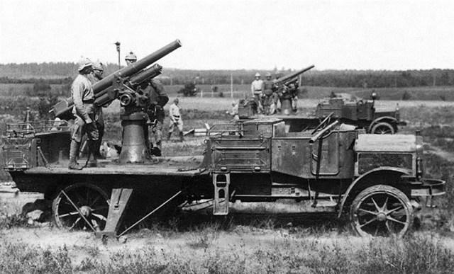 1916. Трехдюймовая зенитная пушка Лендера на шасси White TCD.