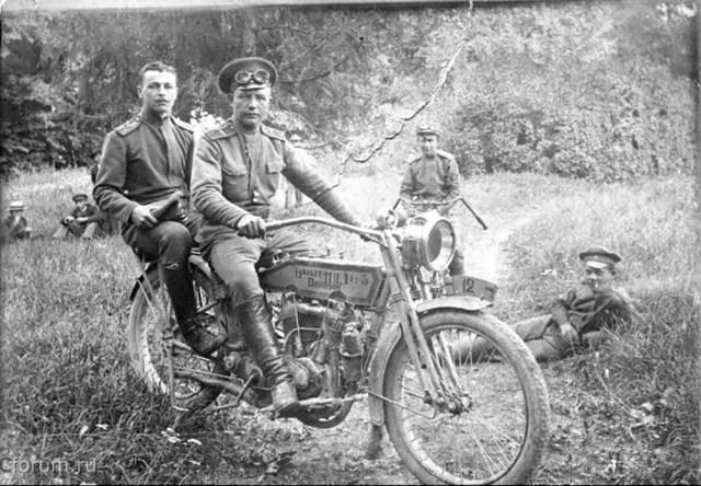 1914-1917. Мотоциклист в Русской Императорской Армии..