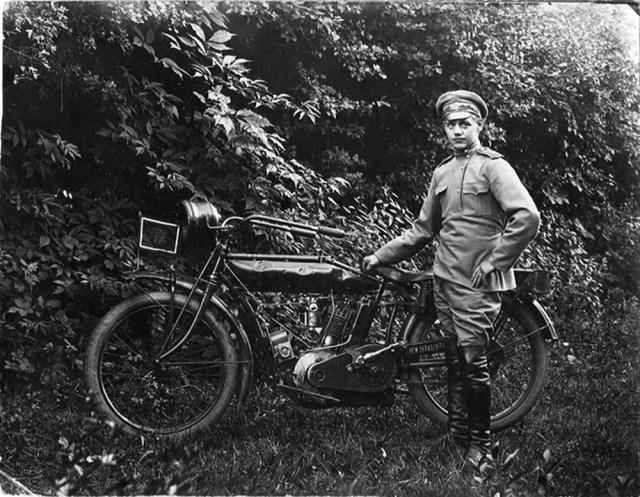 1914-1917. Мотоцикл Indian в Русской Императорской Армии.