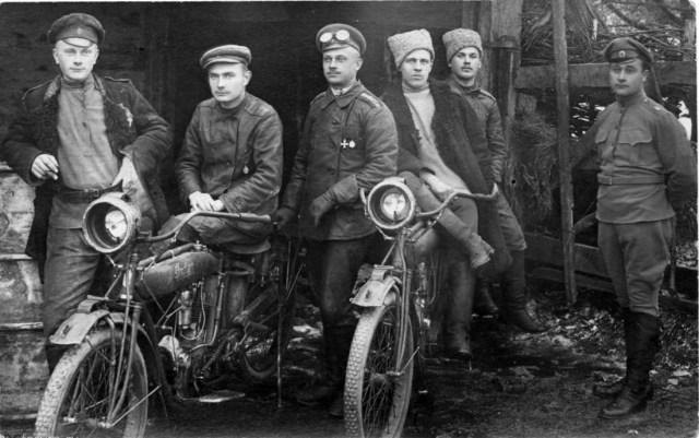 1914-1917. Мотоцикл Indian в Русской Императорской Армии..