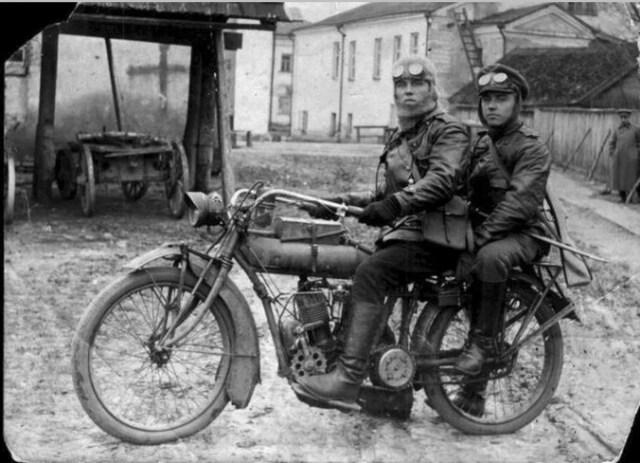 1915. Мотоцикл Indian в Русской императорской армии.