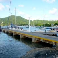 Tyrell Bay yachtclub jetty.