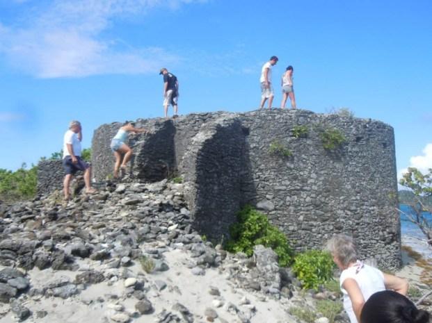 Ruin on Saline Island.