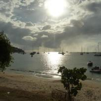Boats in Tyrell Bay Carriacou.