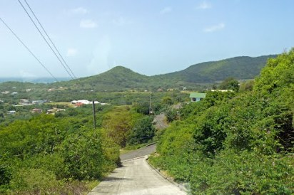 Dover road on Carriacou.