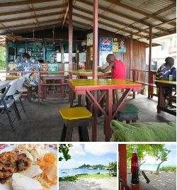HardWood bar and snacks on Paradise Beach Carriacou.