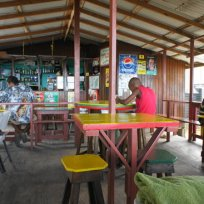 Hard Wood bar and snacket on Paradise Beach Carriacou.