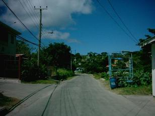 the road of L'Esterre on Carriacou.