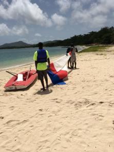 Carriacou Junior sailing school on Paradise Beach.