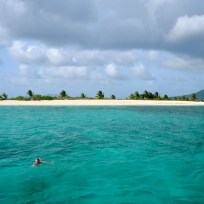 Moor your boat and go snorkling at sandy island.