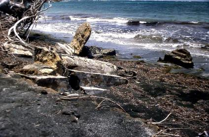 Gravesite on Carriacou at the beach of Tibeau.