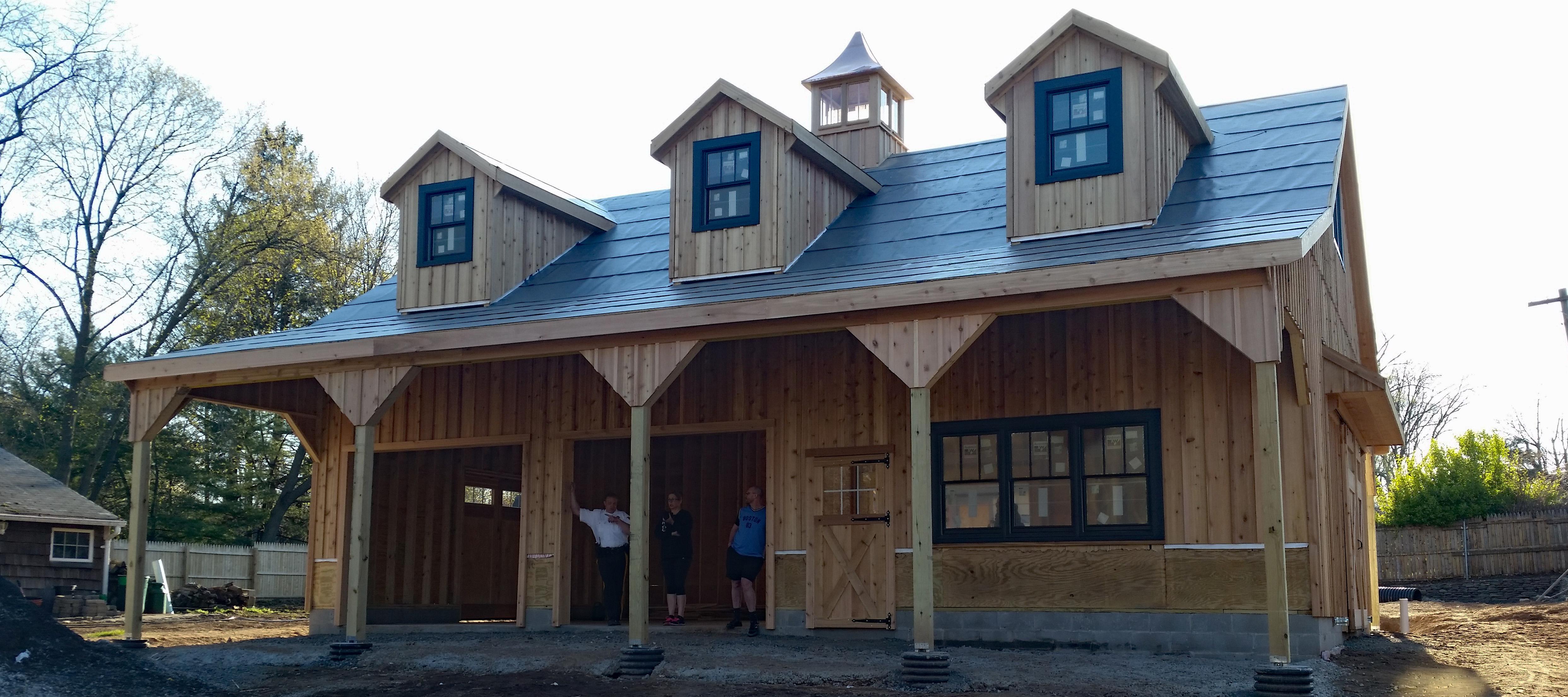 Wooden Garage With Loft Novocom Top