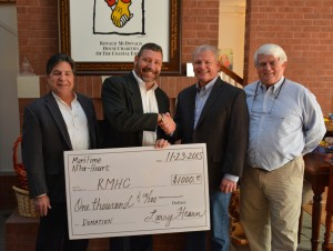 Savannah Maritime After-Hours Presented Check to the Ronald McDonald House of the Coastal Empire