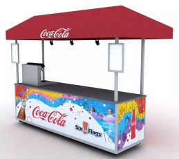 Six Flags Coke Cart