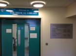 Entrance to the library.