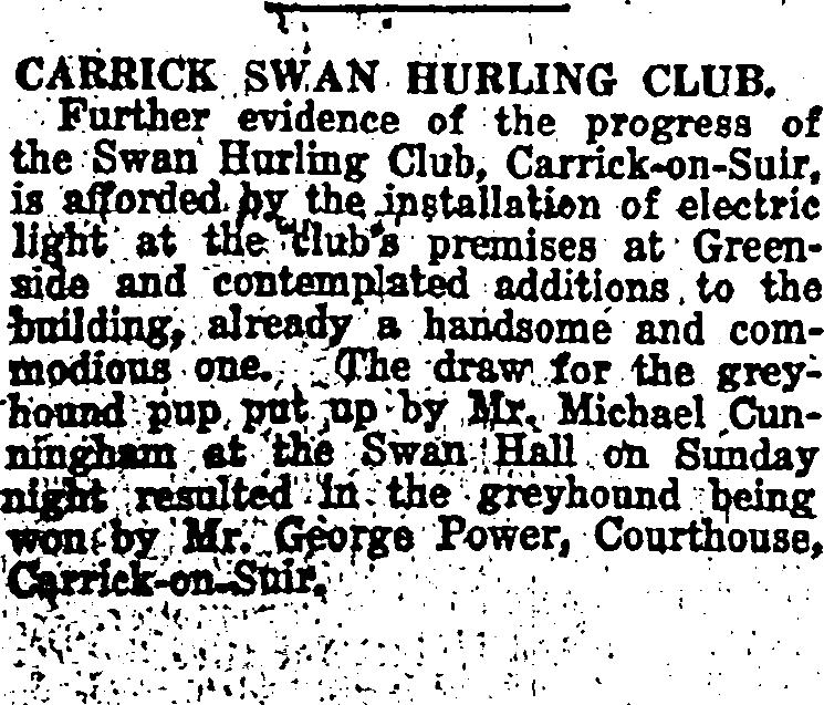 Swan Club Electricity