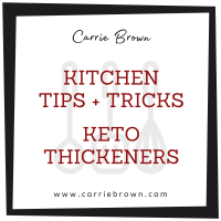 Keto and Low Carb Thickeners