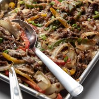 Sheet Pan Nutmegger Cheesesteak