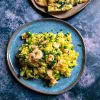 Prawn & Cardamom Rice with Peas