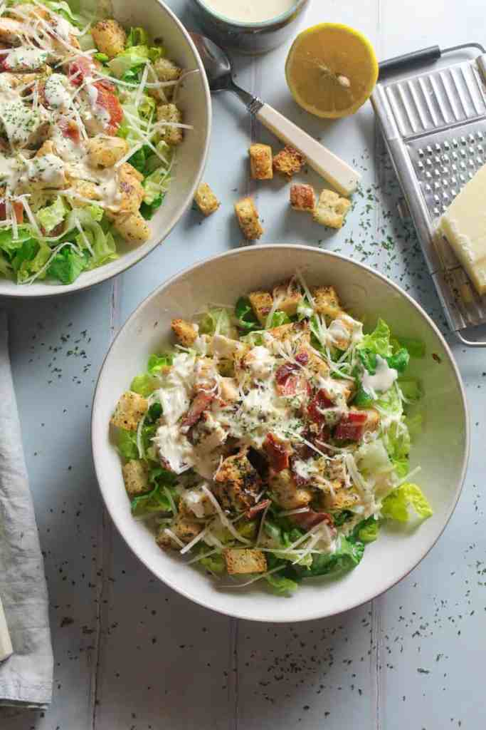 Chicken Caesar with Crispy Bacon