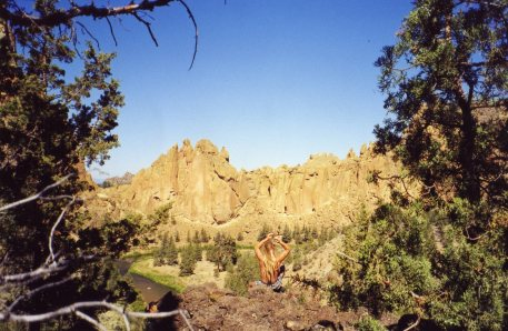 10 Sep 1999 Smith Rock from campsite