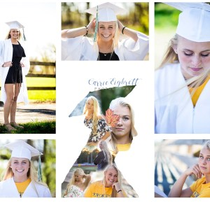 Anna's College Commitment and Graduation shots