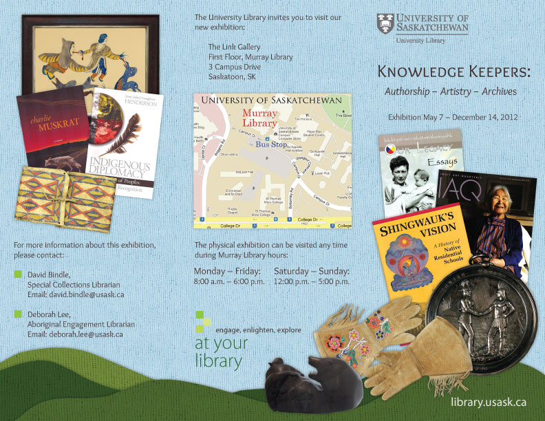Aboriginal Research Resources trifold Brochure - Outside
