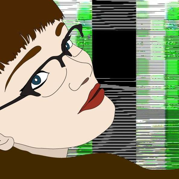 Carrie Gates - Vector Drawing Self Portrait