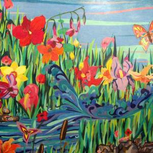 My Garden - Pencil Crayon Drawing by Carrie Gates