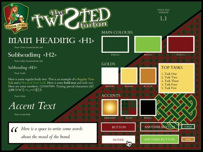 Twisted Tartan Liquor Store - Style Tile