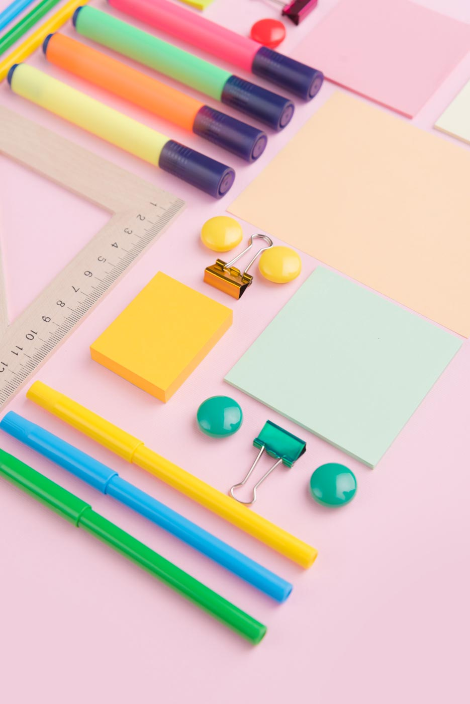 Office Supplies on a Desk