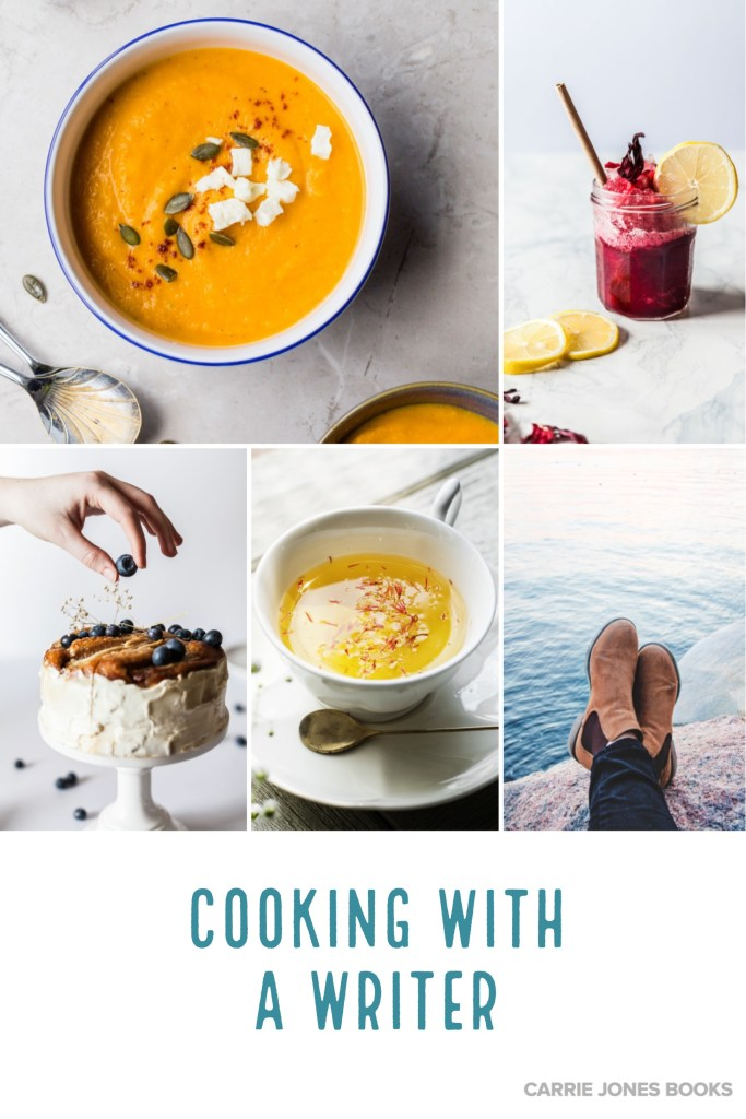 https://carriejonesbooks.blog Cooking With a Writer