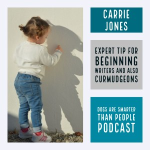 Expert Tip For Beginning Writers DOGS ARE SMARTER THAN PEOPLE WRITING PODCAST