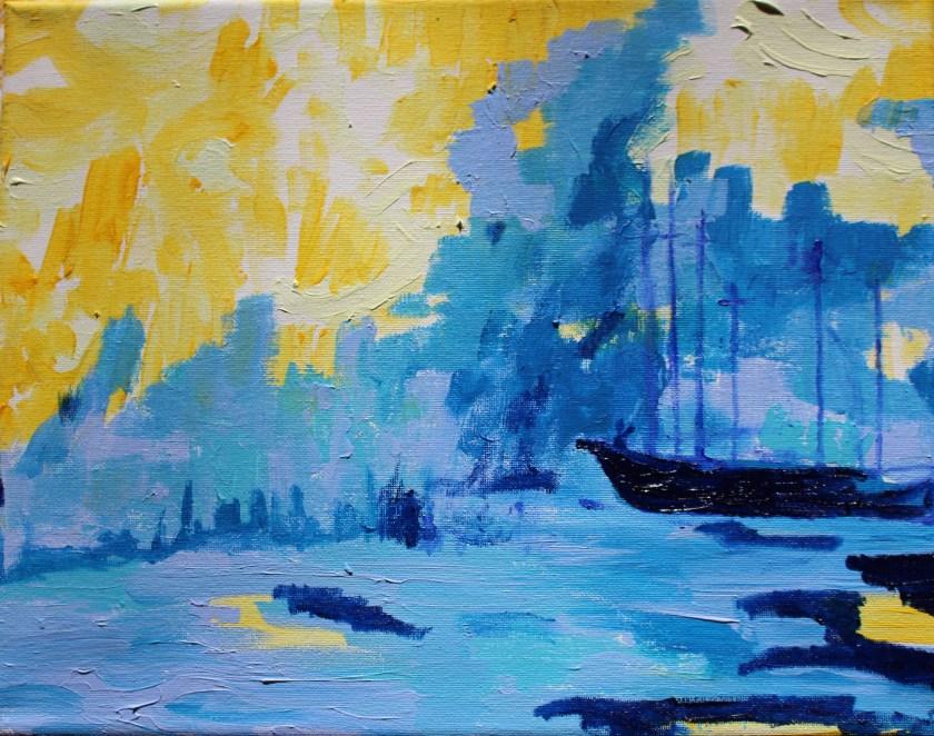Bar Harbor Painting Schooner