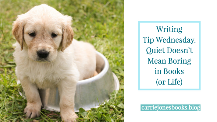 Writing Tip Wednesday: Am I Too Quiet?