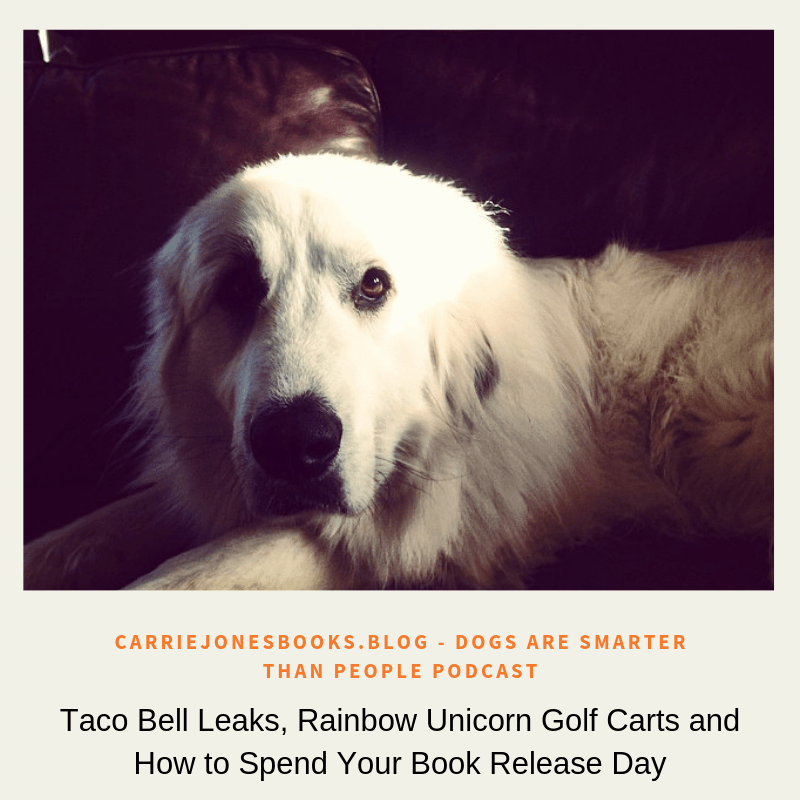 Taco Bell Leaks, Rainbow Unicorn Golf Carts and How to Spend Your Book Release Day