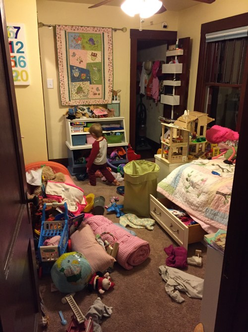 My daughter's crazy messy room