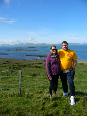 view to Isle of Jura, w/ husband, in Argyll