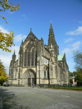Glasgow Cathedral facade. Image by C. L. Tangenberg
