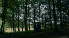 "Claire and Magnus in ""Bois du Boulogne, Paris,"" a.k.a. Pollok Country Park"