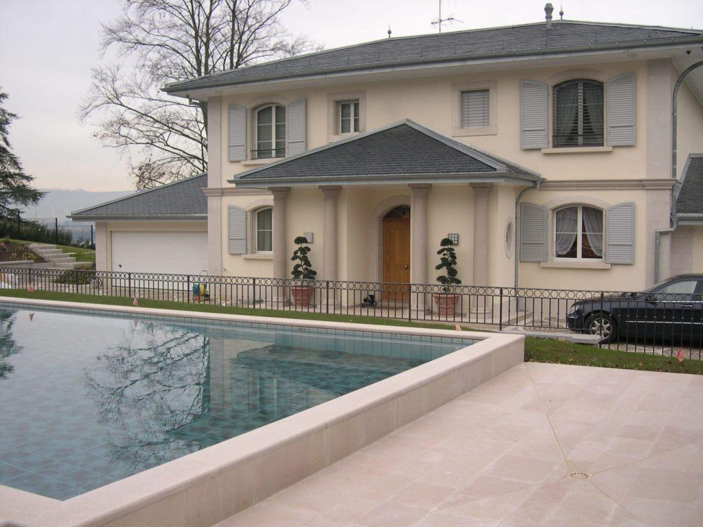 Terrasse en pierre de Comblanchien Genève