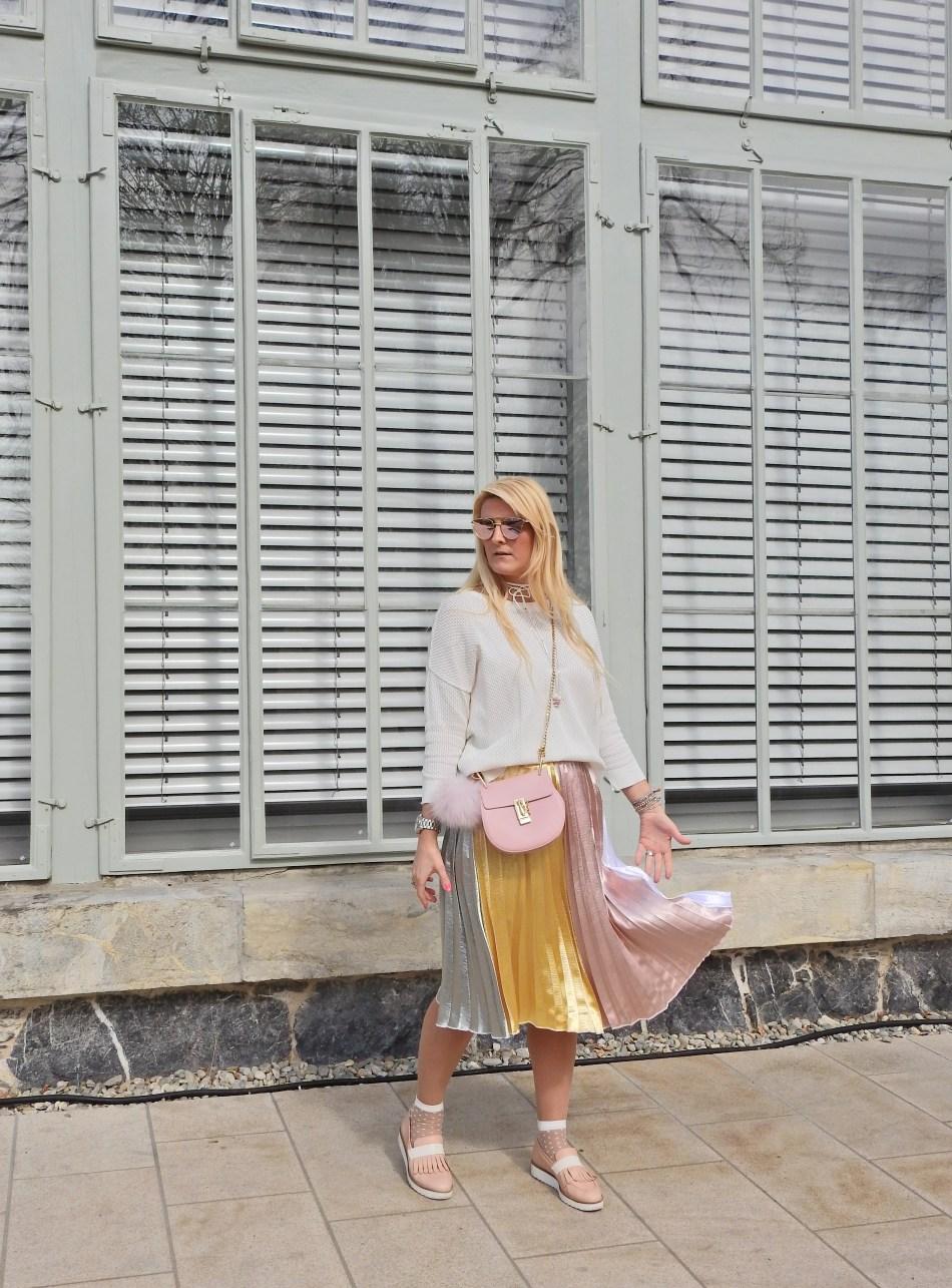 Plisse Skirt Plissee Rock Spring Look Blogger Fashionsocks