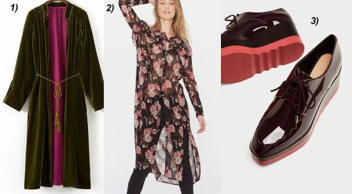 Velvet-Kimono-Tunikadress-Floral-print-Bücher-Plateau-Shoes-carrieslifestyle-Tamara-Prutsch